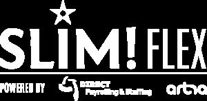 Slim Flex logo wit
